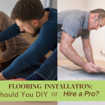 Professional flooring installer versus a couple installing their own flooring.